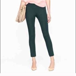 J. CREW Minnie Pant in Stretch Twill Forest Green